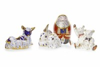 Lot 1224-ROYAL CROWN DERBY SANTA CLAUS PAPERWEIGHT marks...