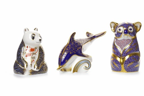 Lot 1225-ROYAL CROWN DERBY KANGAROO PAPERWEIGHT marks to...