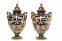 Lot 1231-PAIR OF ROYAL CROWN DERBY 'IMARI' PATTERN LIDDED...