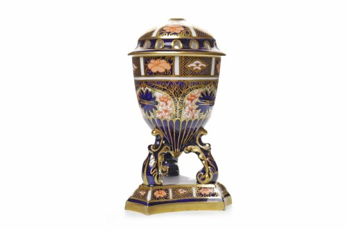 Lot 1233-ROYAL CROWN DERBY 'IMARI' PATTERN POTPOURRI JAR...