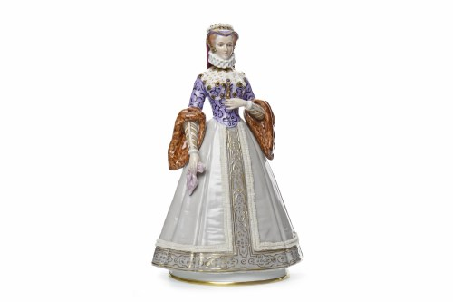 Lot 1234 - CAPODIMONTE FIGURE OF 'ELISABETH D'AUTRICHE...