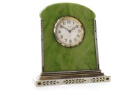 Lot 1409-ART DECO DESK CLOCK BY CARTIER with 8 day...