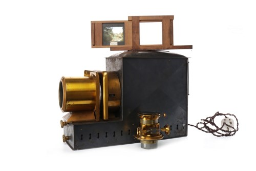 Lot 1411-EARLY 20TH CENTURY MAGIC LANTERN BY W.B. & SONS...