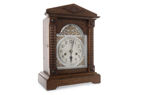 Lot 1413-LATE 19TH CENTURY MANTEL CLOCK the movement by...