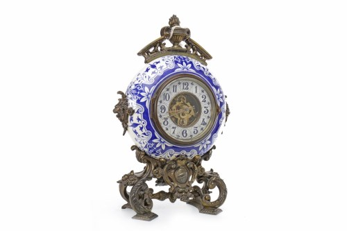 Lot 1422-EARLY 20TH CENTURY FRENCH STYLE MANTEL CLOCK...