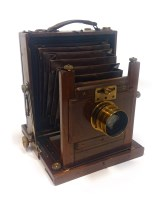 Lot 1429-VICTORIAN 'THE STANDARD' PLATE CAMERA BY J....