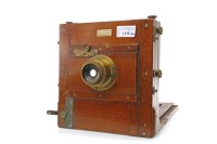 Lot 1430-VICTORIAN 'INSTANTO' PLATE CAMERA BY E. & T....