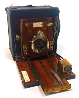 Lot 1431-EDWARDIAN 'JUNIOR SANDERSON' PLATE CAMERA with...