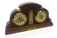Lot 1437-VICTORIAN CLOCK/BAROMETER DESK COMPENDIUM the...