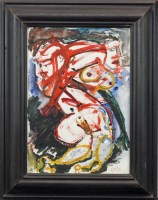 Lot 20-* ANTHONY PILBRO, ABSTRACT COUPLE oil on board,...