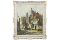 Lot 28-H TEN HOEVEN (DUTCH), OLD AMSTERDAM oil on canvas,...