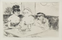 Lot 43-JEAN LOUIS FORAIN (FRENCH 1852 - 1931), CAFE...