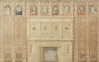 Lot 56-BRITISH SCHOOL, STUDY DEPICTING THE TUDOR COURT...