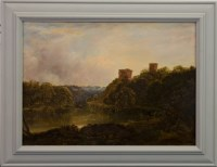 Lot 225-HORATIO MACCULLOCH RSA (SCOTTISH 1805 - 1867), BOTHWELL CASTLE