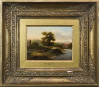 Lot 259-PATRICK NASMYTH RA THE BIG OAK oil on board,...