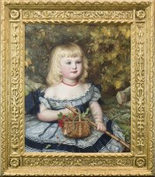Lot 380-MARIA BROOKS (AMERICAN 1837 - 1913), YOUNG GIRL...