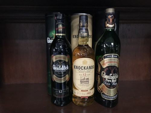 Lot 11-GLENFIDDICH PURE MALT OVER 8 YEARS OLD - ONE...