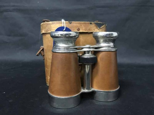 Lot 2-CHEVALIER PARIS BINOCULARS along with two further ...