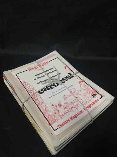 Lot 24-LOT OF VINTAGE THEATRICAL PROGRAMMES including...