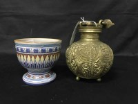 Lot 27-LOT OF ASIAN STYLE ITEMS TO INCLUDE CARVED WOODEN ...