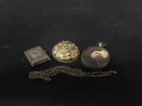 Lot 35-LOT OF JEWELLERY comprising gold watch face,...