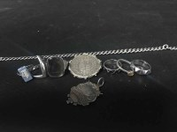 Lot 37-LOT OF SILVER AND COSTUME JEWELLERY