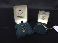 Lot 49-9CT GOLD PENDANT AND CHAIN BY OLA GORIE OF ORKNEY ...