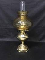 Lot 50-VICTORIAN STYLE BRASS OIL LAMP