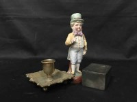 Lot 51-LOT OF COLLECTABLES INLCUDING CERAMIC FIGURE,...