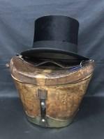 Lot 69 - BLACK SILK TOP HAT by Forsyth Bros, Hamilton...
