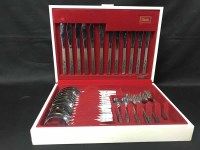 Lot 83 - CANTEEN OF CUTLERY along with plated fish cutlery