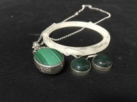 Lot 89 - LOT OF SILVER AND AGATE NECKLACES along with...