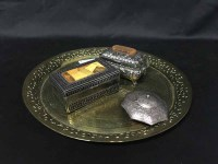 Lot 93 - ASIAN AND ORIENTIAL STYLE TRINKET BOXES along...
