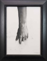Lot 15-* PATSY MCARTHUR STUDY OF A HAND charcoal on...