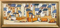 Lot 25-* IAIN CARBY, BACK OF THE HARBOUR, STROMNESS oil...