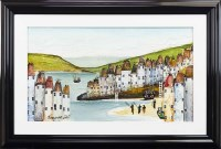 Lot 33-* ROZANNE BELL, A CORNISH HARBOUR oil on board,...