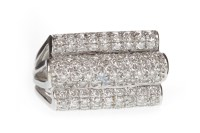 Lot 607-EIGHTEEN CARAT WHITE GOLD DIAMOND DRESS RING the...