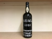 Lot 23-1920 BUAL RUTHERFORD'S MADEIRA Bottled in Madeira ...