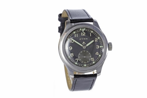 Lot 750-GENTLEMAN'S CYMA MILITARY ISSUE STAINLESS...
