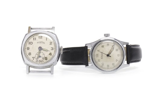 Lot 758-GENTLEMAN'S MILITARY STYLE MOSER & CIE STAINLESS...