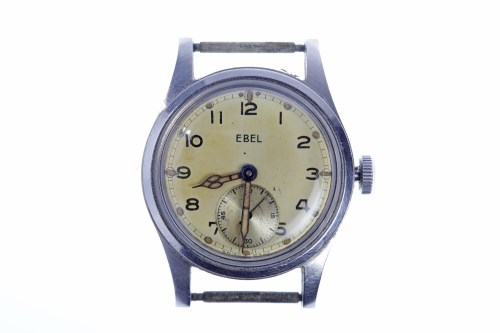 Lot 764-GENTLEMAN'S EBEL MILITARY ISSUE STAINLESS STEEL...