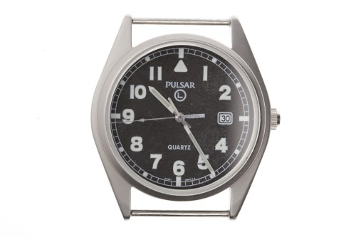 Lot 767-GENTLEMAN'S PULSAR MILITARY ISSUE STAINLESS STEEL ...