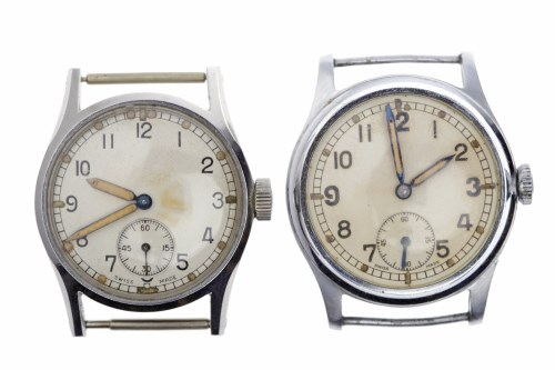 Lot 771-TWO GENTLEMAN'S MILITARY ISSUE STAINLESS STEEL...