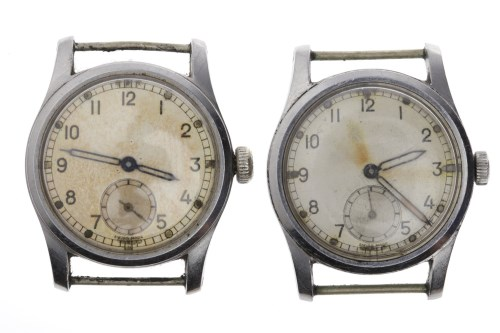 Lot 774-TWO GENTLEMAN'S MILITARY ISSUE STAINLESS STEEL...
