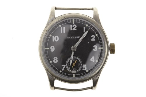 Lot 775-GENTLEMAN'S GLYCINE MILITARY ISSUE STAINLESS...