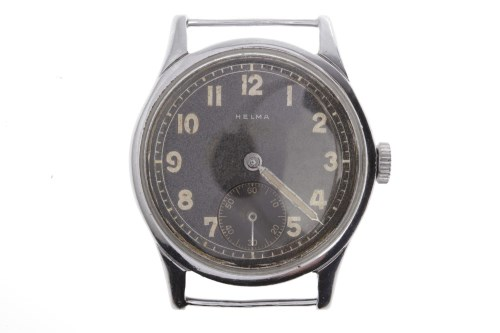 Lot 776-GENTLEMAN'S HELMA MILITARY ISSUE STAINLESS STEEL...