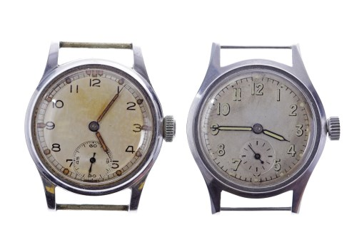 Lot 778-TWO GENTLEMAN'S MILITARY ISSUE STAINLESS STEEL...