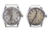 Lot 787-TWO GENTLEMAN'S MILITARY ISSUE STAINLESS STEEL...