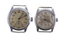 Lot 791-GENTLEMAN'S ETERNA MILITARY STAINLESS STEEL...