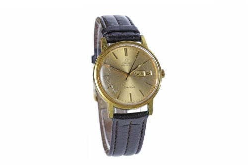 Lot 873-GENTLEMAN'S OMEGA GENEVE GOLD PLATED AUTOMATIC...
